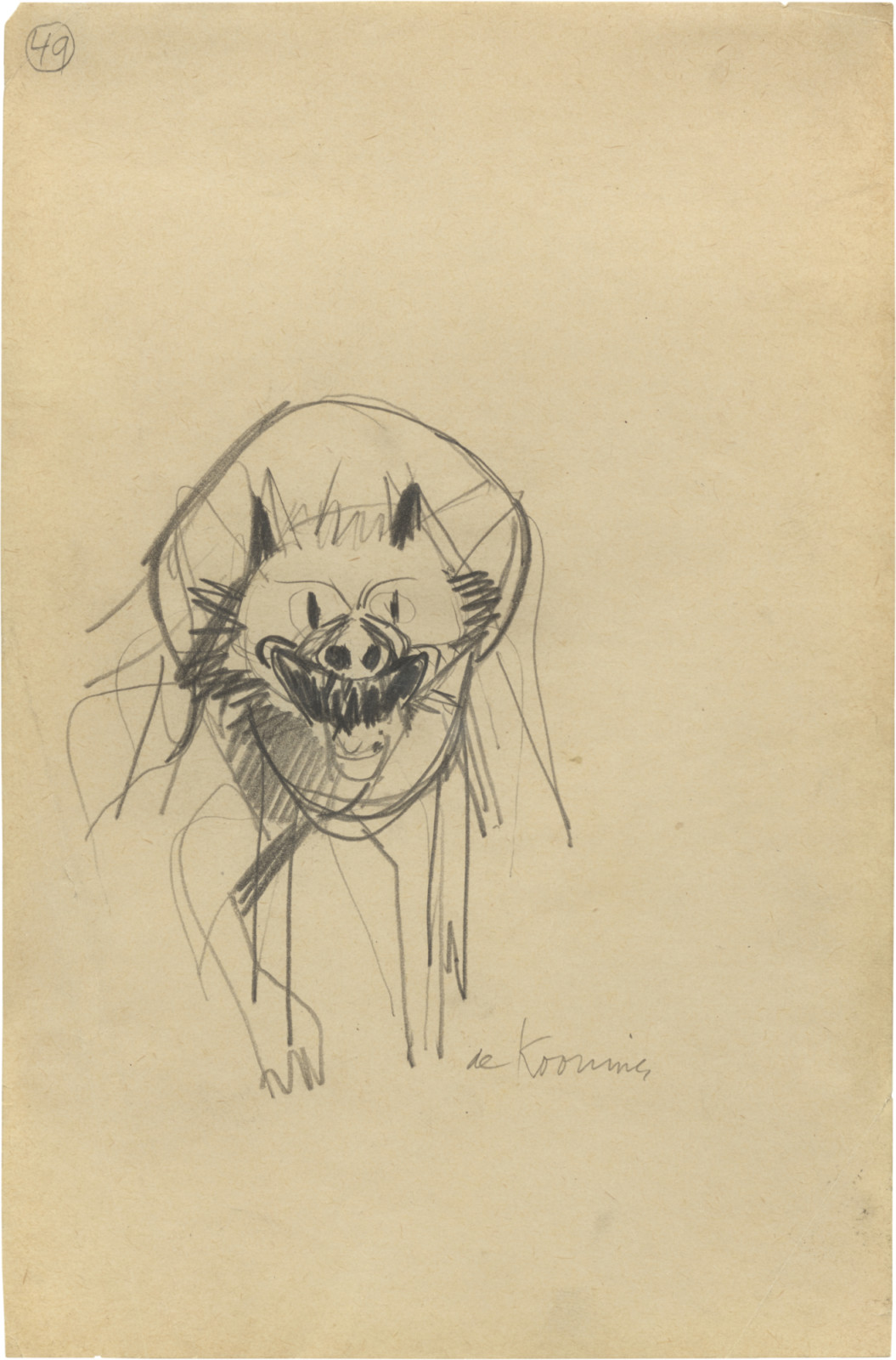 Drawing, dated c. 1949–53