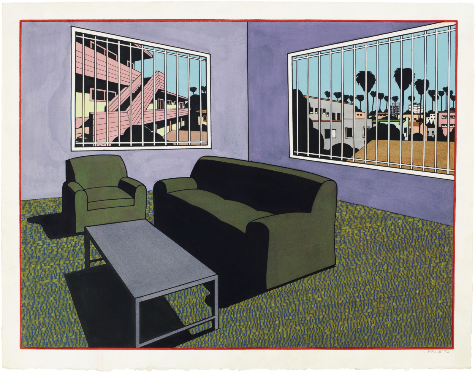 Drawing by Ken Price, , dated 1992