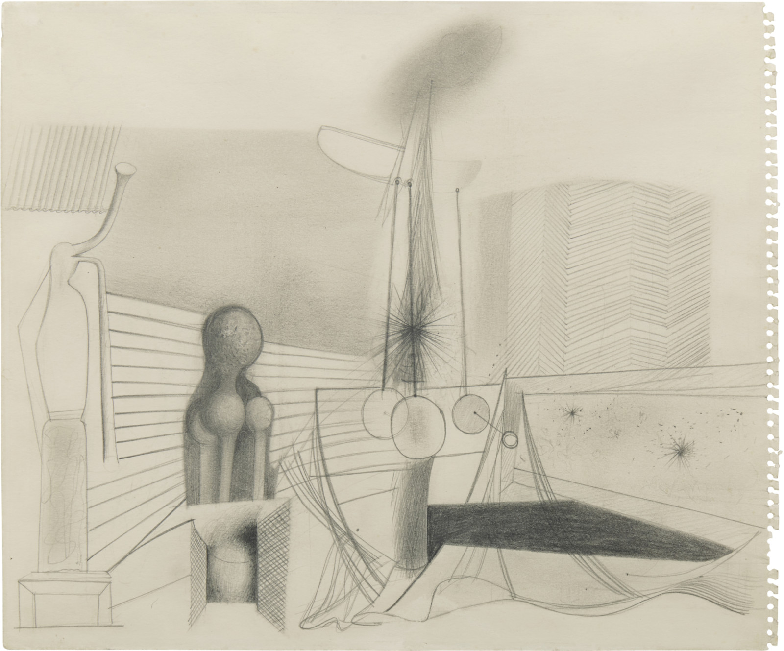 Drawing, dated 1937